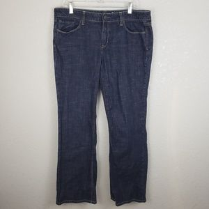 Gap sz 14 organic cotton straight leg jeans dark